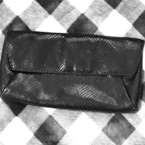 Fantastic Black Leather Ann Taylor Clutch